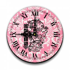 "12"" French Graphic Wall Clock"