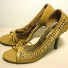 DOLLHOUSE Tan Strappy Shoes sz 8.5