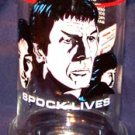 1984 STAR TREK III SPOCK LIVES GLASS