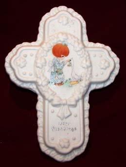 Precious Moments Irish Blessing Porcelain Cross