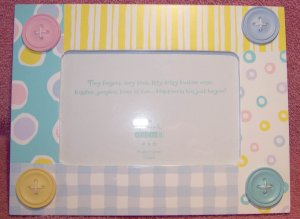 Hallmark Studio B ~ Button Trim and Pastel Color Print Photo Frame