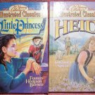 Heidi and A Little Princess Books from The Young Collector's Illustrated Classics