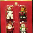 Mini Christmas Ornaments - Miniature Santa, Reindeer, Snowman & Polar Bear