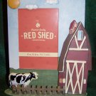 Farm Scene Metal Photo Frame - Red Shed - BRAND NEW