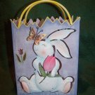 Home Interiors ~ Easter Metal Bunny Sack Planter or Lantern ~ NEW IN BOX! ~ 4 Available