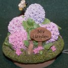 Home Interior Hydrangea Garden Candle Accent Capper - NIB