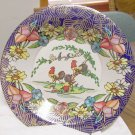 Vintage Metal Rooster Flowers Tin Plate - Brazil