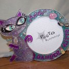 Sparkly Ms. Kitty Metal Photo Frame