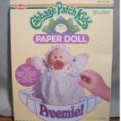 Vintage 1984 Cabbage Patch Kids Preemie! Paper Dolls ~ NIB