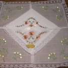 2 Beautiful Vintage Imported Lacy Edge Handkerchiefs