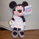 "Disney-MICKEY MOUSE in TOGA 8"" Bean Bag Beanie Toy NWT"