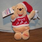 Disney Store MINI BEAN BAG Beanie Winter Sweater POOH 1999