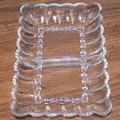 Vintage Small Rectangle Clear Glass Divided Treat Dish