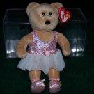 "TY Beanie Baby PRIMA Ballerina Girl Bear Tutu 8"""