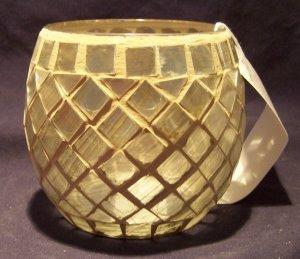 Home Interiors Mosaic Shimmer Candleholder - Retired - NEW