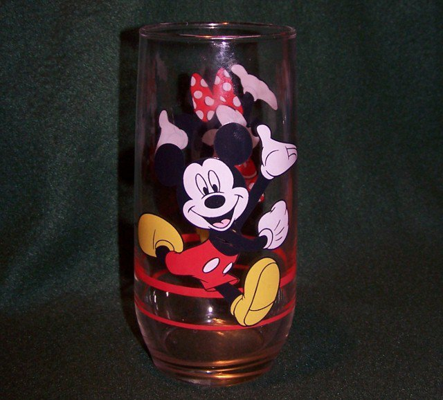 Mickey and Minnie Mouse Glass Tumbler