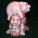 3 Pink Pigs Salt and Pepper Shakers – Stack On Top of Each Other – CUTE!