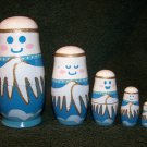 Wooden Angel Nesting Boxes – 5 Figures in All