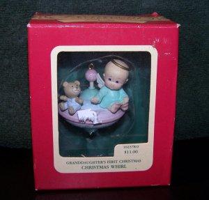 Granddaughter's First Christmas Heirloom Ornament Carlton Cards �Christmas Whirl� � 1990 - NIB