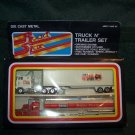 Die Cast Metal Road Star Truck N' Trailer Set – 2 Trucks – Made in Hong Kong– NIP