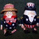 Patriotic Wooden Eggs w/Arms & Legs – Uncle Sam and Lady
