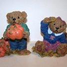 Home Interiors Fall Harvest Bear Figurines – 1999 - #99005