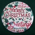 New Merry Christmas – Seasons Greetings – Santa Cookie Plate - Melamine - NEW