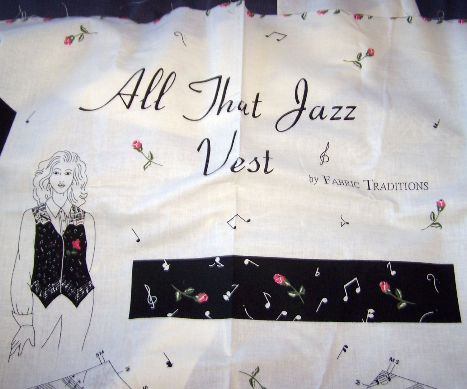 All That Jazz Vest �Cut & Sew Vest Fabric Panel � By Fabric Traditions - (1996)