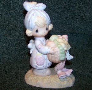 """PRECIOUS MOMENTS ENESCO """"BE NOT WEARY IN WELL DOING"""" 1979 JONATHAN DAVID FIGURE"""