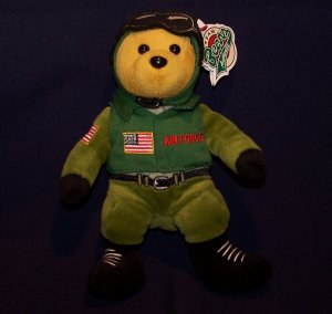 USA AIRFORCE PILOT AIRMAN PLUSH TEDDY BEAR -  25 AVAILABLE Great for Party Favors