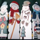 Snowman Family Hinged Screen – Let It Snow – Home Interiors