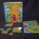 """MAGNETIVITY STORY TIN """"FOREST FRIENDS"""" A MAGNETIC PLAYSET"""