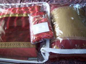 NEW PillowSham + Gently Used Comforter Duvet Cover & Pillow-Beautiful!