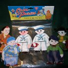 Vintage KM Child's Small Plastic / Vinyl Coin Purses– Set of 6 in Original Package