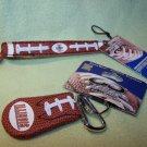 Illinois Illini Leather Football Bracelet and Keychain by GameWear