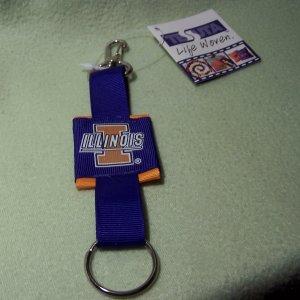 Illinois Illini Keychain - Official Team Logo - Tessuta Woven Keychain