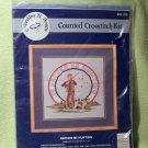 I'D RATHER BE HUNTING CROSSTITCH NO. 573 KIT - NEW