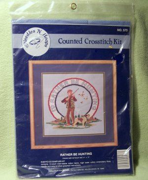 I�D RATHER BE HUNTING CROSSTITCH NO. 573 KIT - NEW