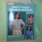 Leisure Arts-Quick Crochet Sweaters and Vests-Leaflet # 347