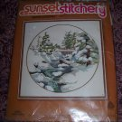 "Vintage SUNSET STITCHERY ""WINTER SNOWFALL"" CREWEL EMBROIDERY KIT 1978 16"" X 16"" SEALED 1978"