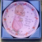 Precious Moments - Porcelain Plate - MAY YOUR BIRTHDAY BE A BLESSING - 1992