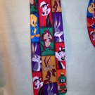 Looney Tunes Mania Neck Tie - Bugs, Pepe, Taz, Tweety, Wiley & Marvin the Martian