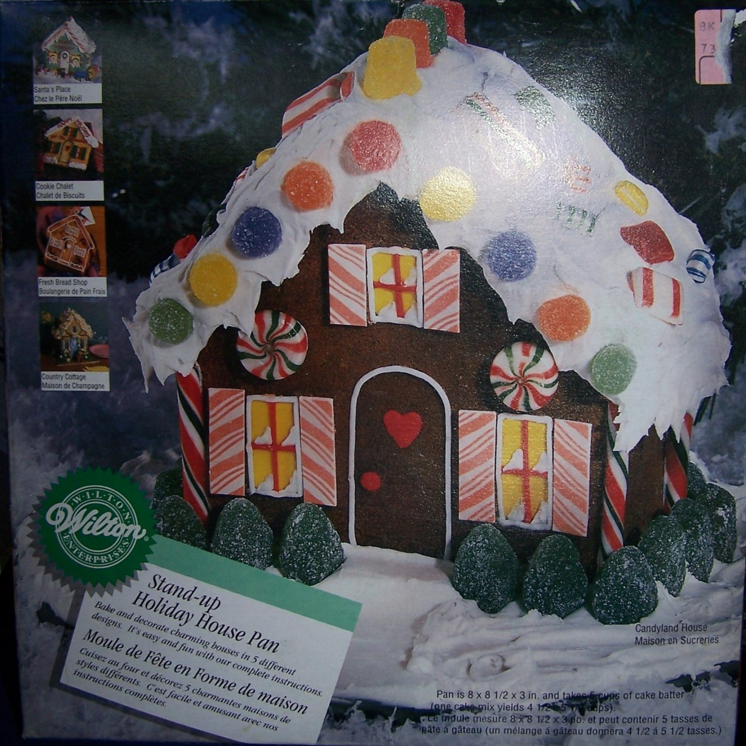 Wilton Stand Up Holiday House Cake Pan 1997 2105 3311