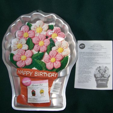 WILTON FLOWER POT CAKE PAN W/INSERT Plus BLOSSOM COOKIE PAN