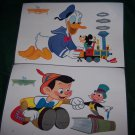 VINTAGE 1964 DISNEY CHARACTERS RCA VICTOR TV PROMO PLACEMATS LAMINATED