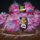 LION BRAND FUN FUR PRINTS COTTON CANDY COLOR MULTICOLORED VARIEGATED LOT OF 4 SKEINS