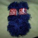 Three Skeins Sullivan Tickle Yarn – Denim Blue