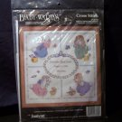 Cross Stitch Kit Baby Birth Announcement Bunny Rabbit Schenk Janlynn 136-03