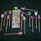 13 Cute Easter Pencils ~ Bunnies, Butterflies, Eggs and Chicks PLUS Pkg. of 12 ~ NEW