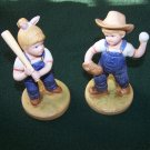 Vintage Retired 1985 Denim Days LET'S PLAY BALL # 1522 Home Interiors Homco